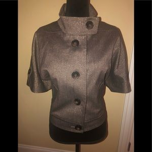 Nine West brown short sleeve blazer size L